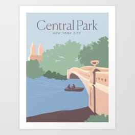 Central Park | New York City | Travel Print Art Print