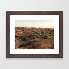 Monument Valley Morning Framed Art Print