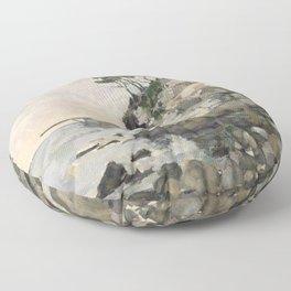 Paul Cezanne - L'Estaque, effet du soir Floor Pillow
