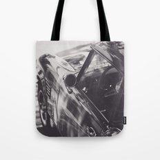 Fine art print, classic car, triumph, spitfire, b&w photo, still life, interior design, old car Tote Bag