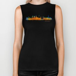 London City Skyline HQ v3 Biker Tank
