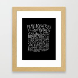 RAY BRADBURY AGAIN Framed Art Print