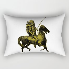 Native American Warrior Rectangular Pillow