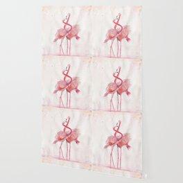 Flamingos Love Wallpaper