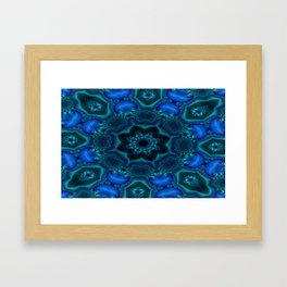 Battling At The Chasm Mandala 15 Framed Art Print