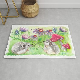 Hedgehog Duel; Why Can't Hedgehogs Share the Hedge? Rug