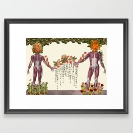"""""""Now & Then"""" anatomical collage art by Bedelgeuse Framed Art Print"""