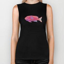 Pink Fish Biker Tank