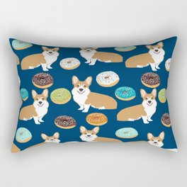 Corgi donuts welsh corgis food desserts doughnuts dog breed corgis Rectangular Pillow