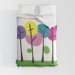 Fluffy Trees Comforters