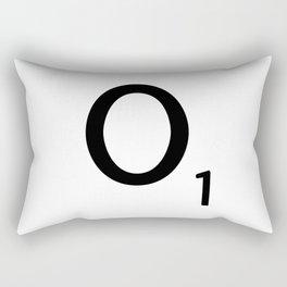 Letter O - Custom Scrabble Letter Tile Art - Scrabble O Initial Rectangular Pillow