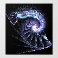 fractal Canvas Prints featuring Fractal by Elisa Camera