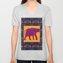 indian elephant Unisex V-Neck