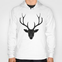 rare Hoodies featuring The Black Deer by Ruben Ireland
