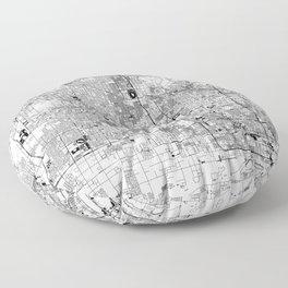 Phoenix White Map Floor Pillow