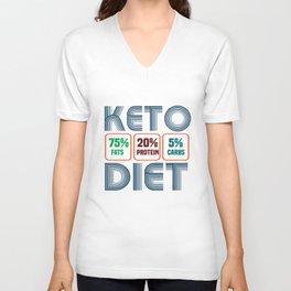 Keto 75% fats 20% protein 5% carbs. Unisex V-Neck