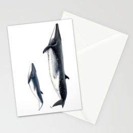 Bryde´s whale and baby whale Stationery Cards