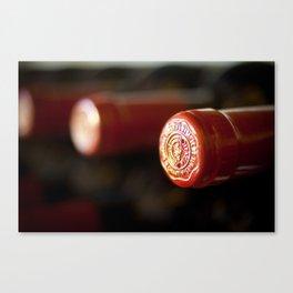Wine bottle tops Canvas Print