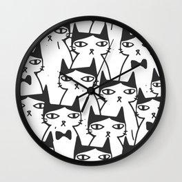 Cats #society6 Decor #buyart Wall Clock
