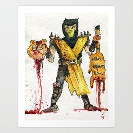 Scorpion Vs. Garfield Art Print