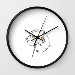 Hand Drawn Illustrations Beautiful Stitching Sewing Gift Wall Clock