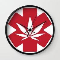 medical Wall Clocks featuring Medical Marijuana by WeedPornDaily