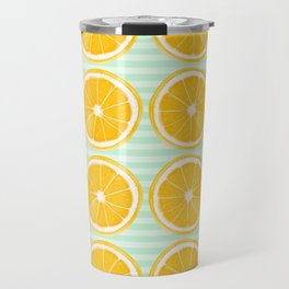 Orange Slice Pattern 2 Travel Mug