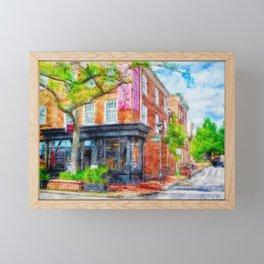 Fells Point Corner, Baltimore, Maryland  Framed Mini Art Print