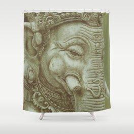 Ganesh green Shower Curtain