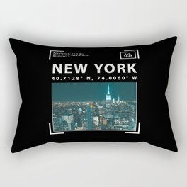 New York City, Skyline and Facts Rectangular Pillow