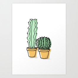 Cactus Pals Art Print