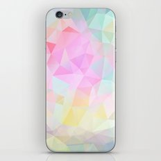 Abstract print of triangles, polygon in pastel colors iPhone & iPod Skin