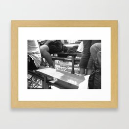 through to tabac Framed Art Print