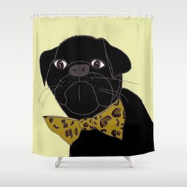 Jasper is in your Closet, Wearing your Leopard-Print Bow tie Shower Curtain