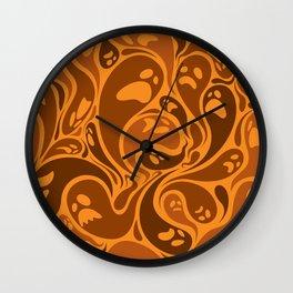 Halloween ghosts seamless pattern Wall Clock