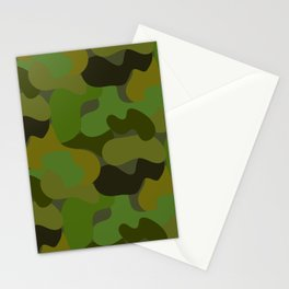 Camo-licious Collection: Gorgeous Green Camouflage Pattern Stationery Cards