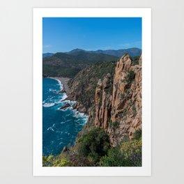 Corsica Island Landscape Art Print