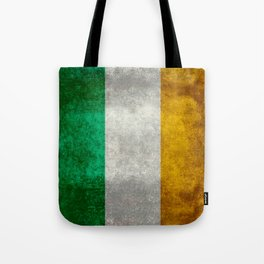 Flag of the Republic of Ireland, Vintage style Tote Bag