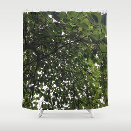 Umbrella Tree Shower Curtain