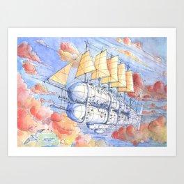 Il Veliero Volante (color version)  Art Print