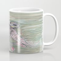 birdman Mugs featuring blackdeath birdman by melissa E