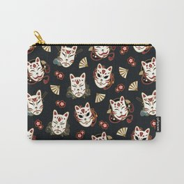 Kitsune Mood Masks Carry-All Pouch