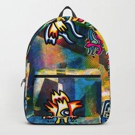Kandinsky with Cool Monsters Street Art Backpack