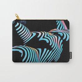 5143s-MAK Zebra Stripe Curves Sensual Female Body Art Carry-All Pouch