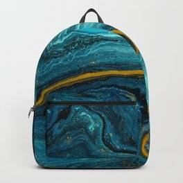 Blue Marble with Gold Dust Backpack