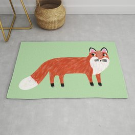 Red Fox Painting Rug