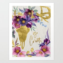 Go Create! Art Print