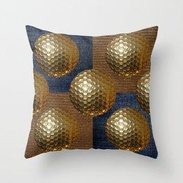 GOLD GOLF Throw Pillow