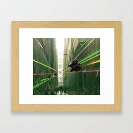 Butterfly Invasion Framed Art Print
