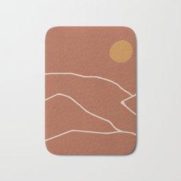 Minimal Abstract Art Landscape 2 Bath Mat